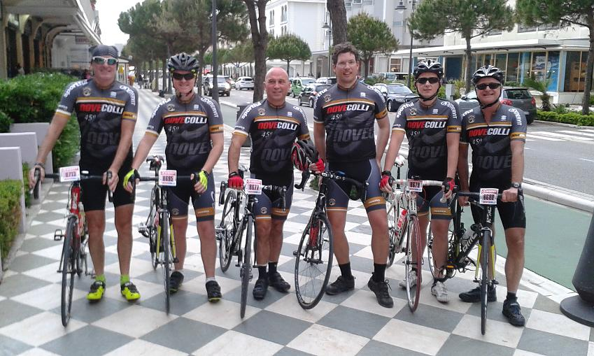 The CycleOut London team at the Nove Colli Sportive in Italy. Photo by CycleOut London