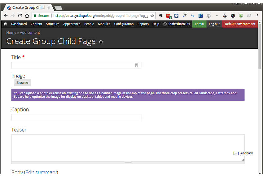 Add additional group page screen