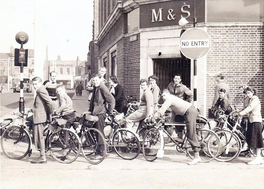 Crewe bike ride in 1965