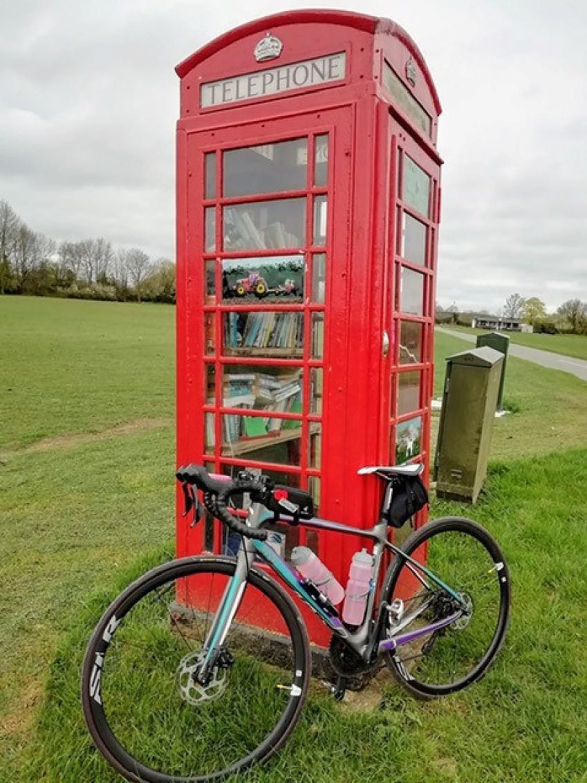 Nadjie Butler's bike taking a well earned rest