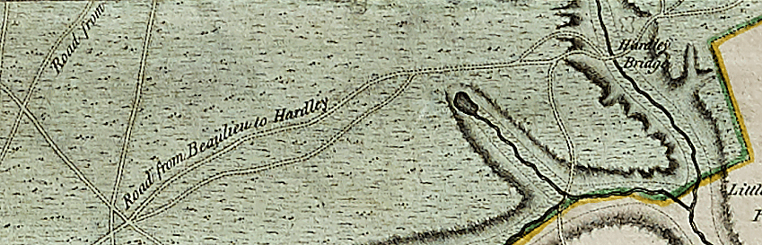 Historic map of the New Forest