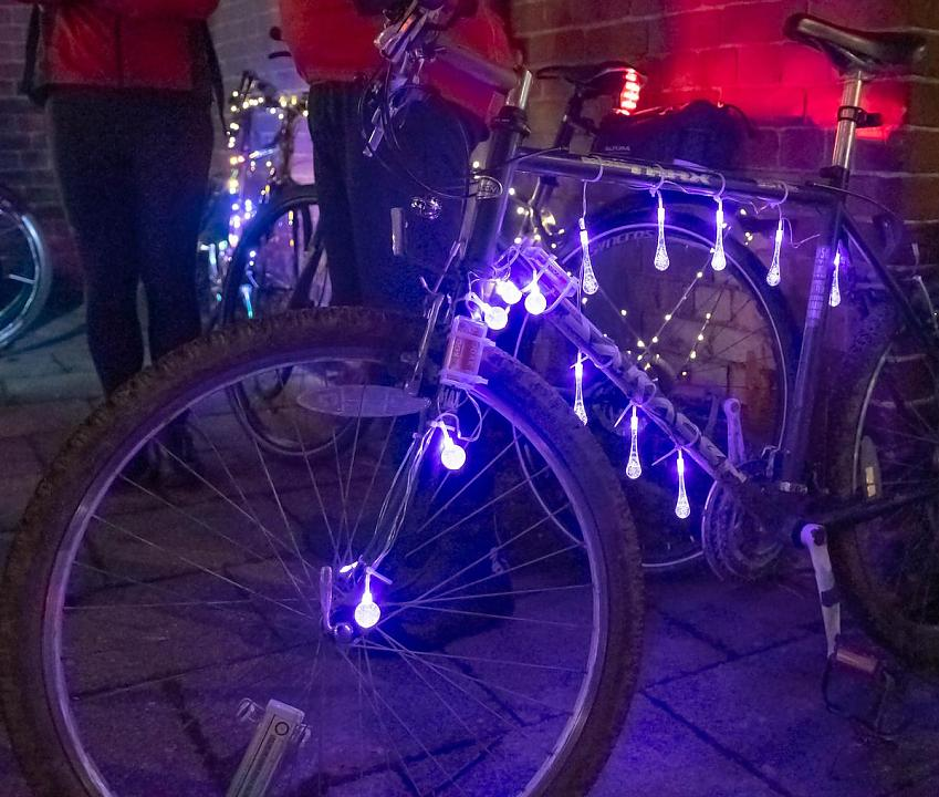 Brightly lit bike