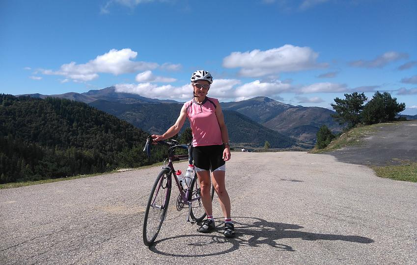 Sue cycle touring in the Pyrenees